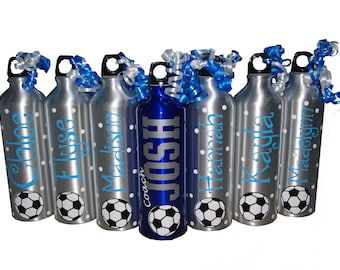 Personalized Aluminum Water Bottle - Soccer