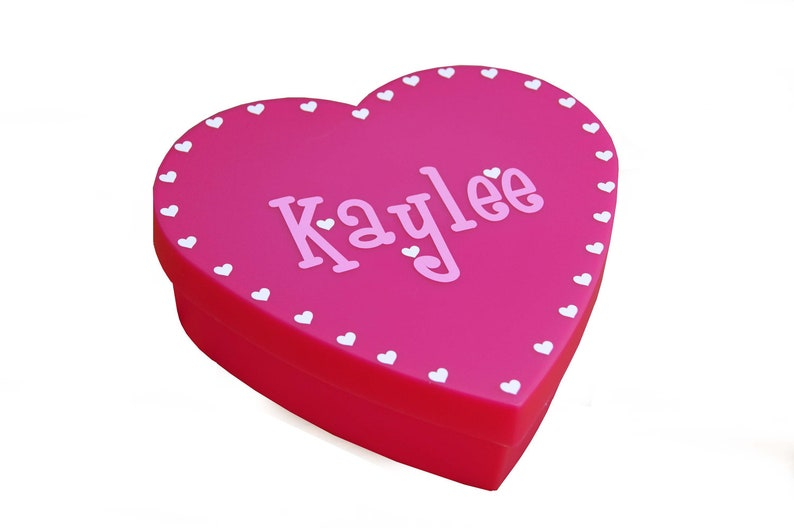 Personalized Heart Box  Valentine's Day image 0