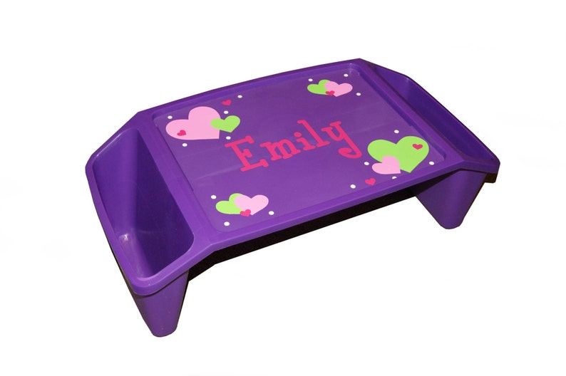 Personalized Lap Tray  Hearts / Valentine's Day image 0