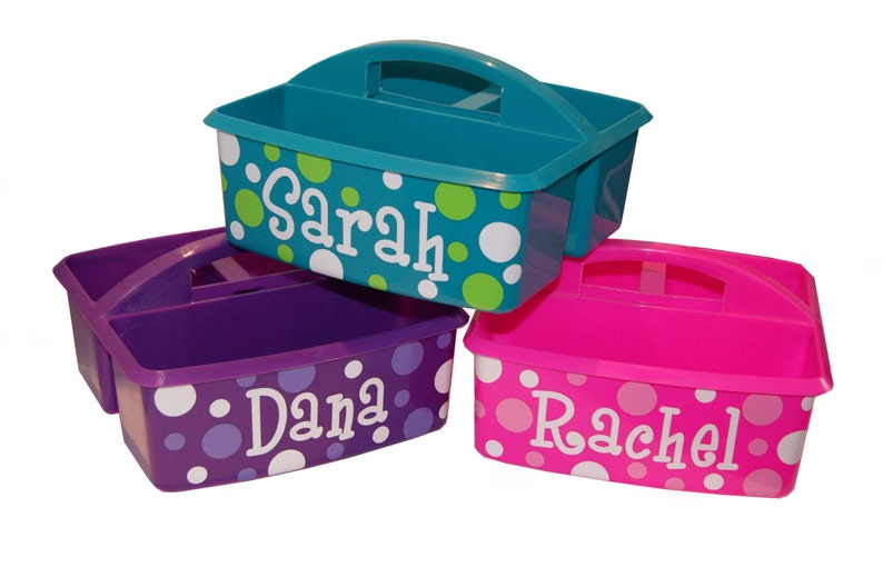 Personalized Kids Storage / Art Supply / Bath Caddy image 0