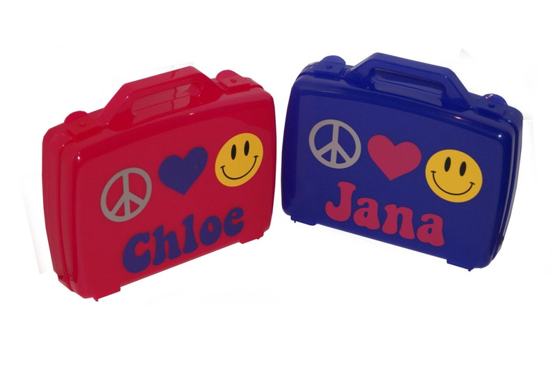 Personalized Carrying Case  Peace Love Happiness image 0