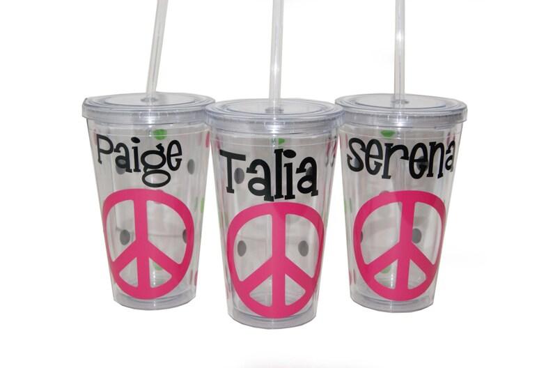 Personalized Acrylic Tumbler  Peace image 0
