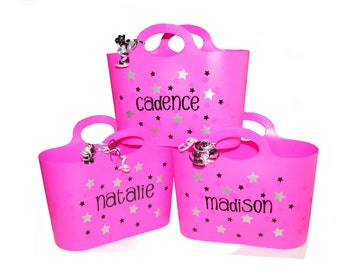Personalized Bubble Tote / Gift Basket / Beach Bag - Stars