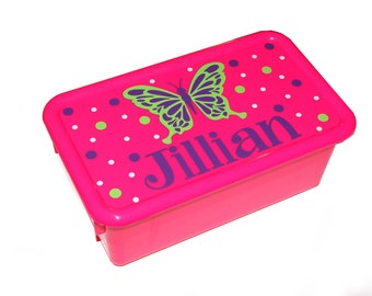Personalized Storage Box with Lid - butterfly