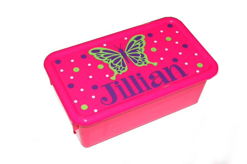 Personalized Storage Box with Lid  butterfly image 0