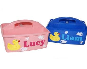 Personalized Kids Storage / Bath / Art Supplies Caddy