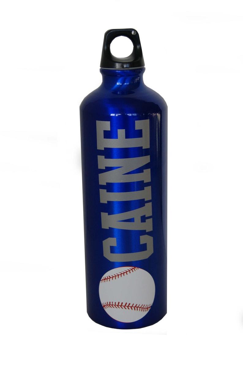 Personalized Aluminum Water Bottle  25 fl.oz.  Baseball image 0