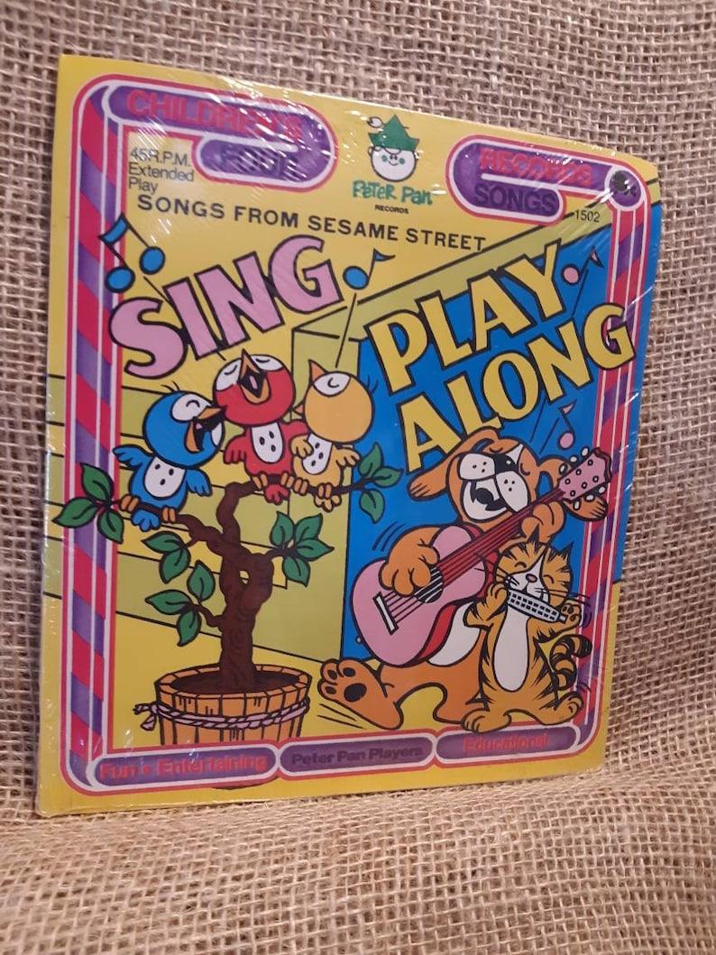 Vintage New in Package Songs From Sesame Street Peter Pan Records