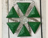 Jeff Frost Stained Glass Starburst - FREE Shipping in USA