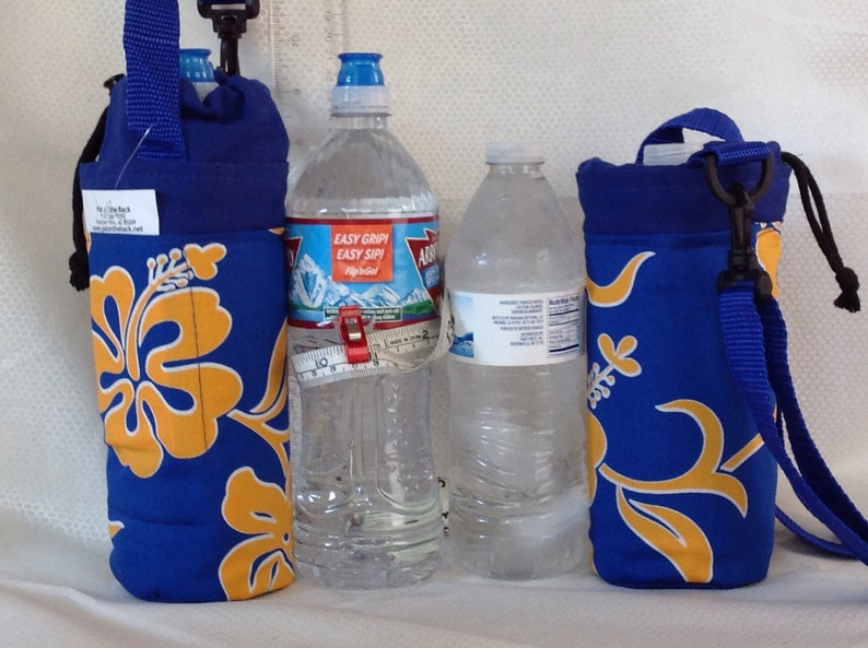 Insulated tote for 16 - 25 oz  (half liter to 750ml) containers tropical  floral