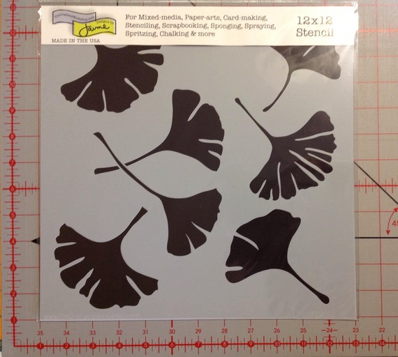 "CRAFTERS WORKSHOP TCW192 Templates 12/""X12/""-Ginko Leaves"