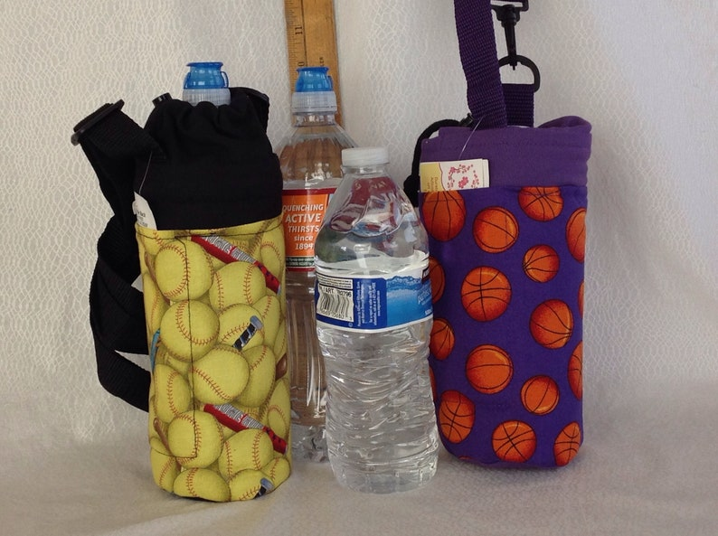 Insulated tote for 16 - 25 oz  (half liter to 750ml) containers softball or  basketball