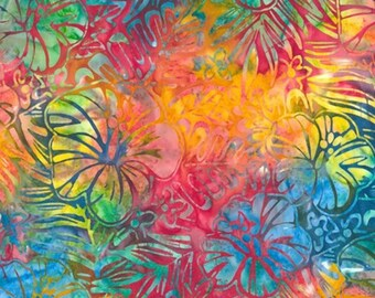 Hibiscus Artisan Batiks Totally Tropical AMD-14928-197 by Lunn Studios