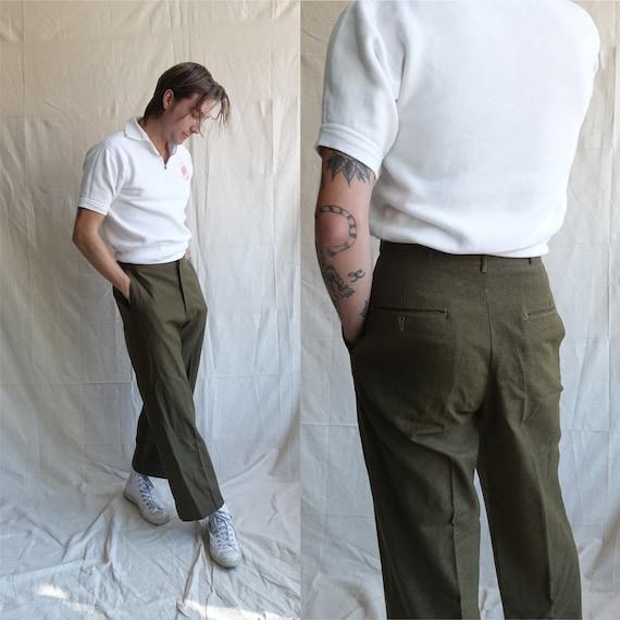 Vintage 40s Field Trousers/ 1940s Wool Army Pants/