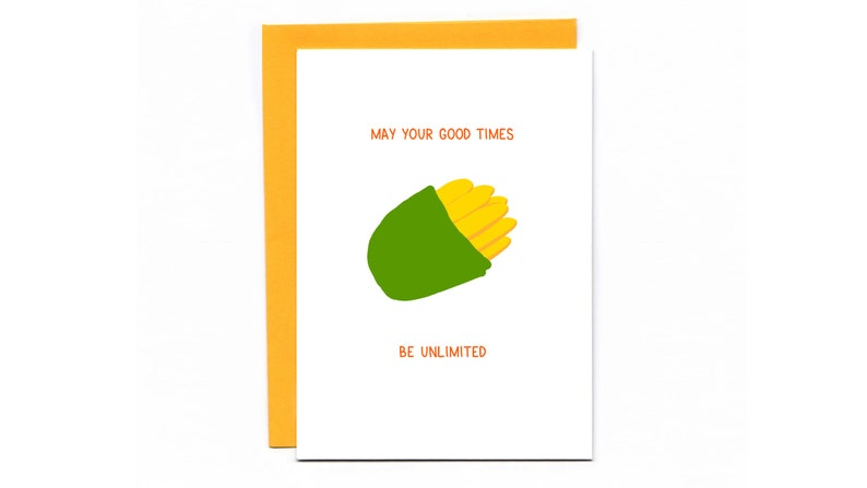 May Your Good Times Be Unlimited   funny wedding card  image 0