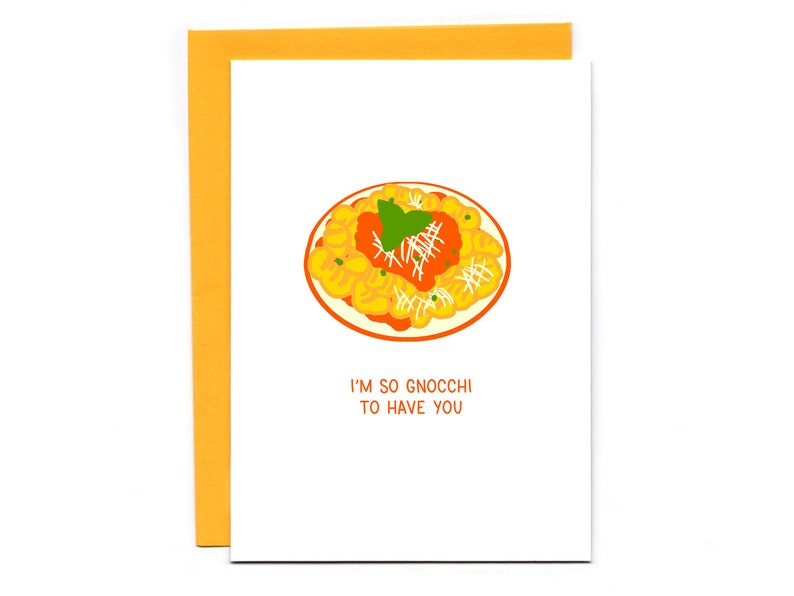 I'm so gnocchi to have you  funny love card  pasta pun  image 0