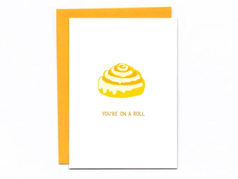 You're on a roll  funny congratulations card  cinnamon image 0