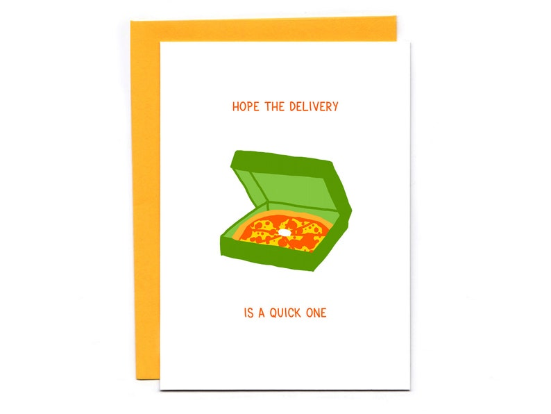 Hope the delivery is a quick one  funny baby shower card  image 0