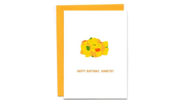 Happy birthday homefry  funny birthday card  friend image 1
