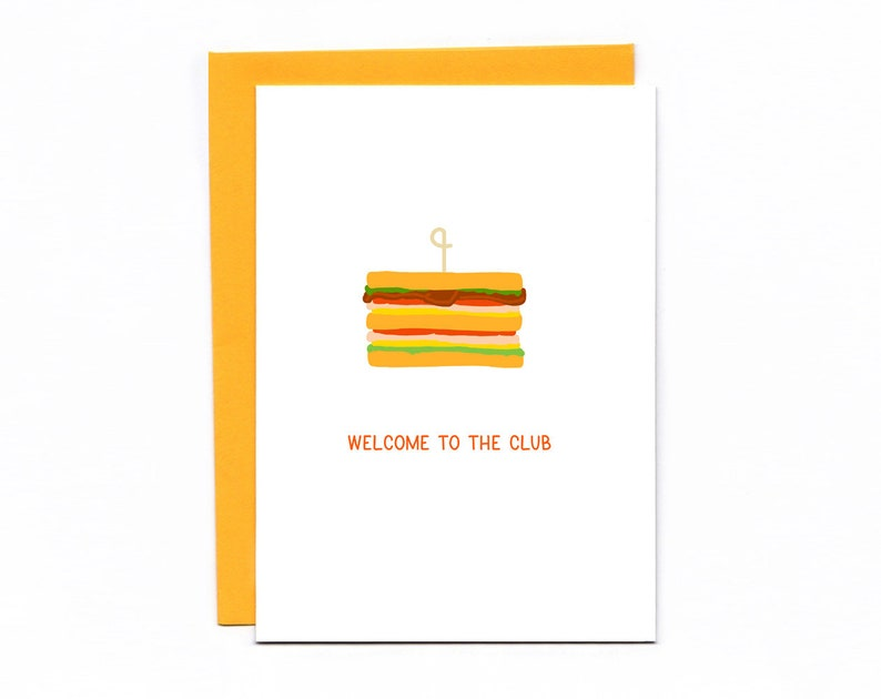 Welcome To The Club  happy birthday  new baby  wedding  image 0