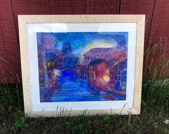 Venice Dreams - Framed Original Waldorf Watercolor Painting