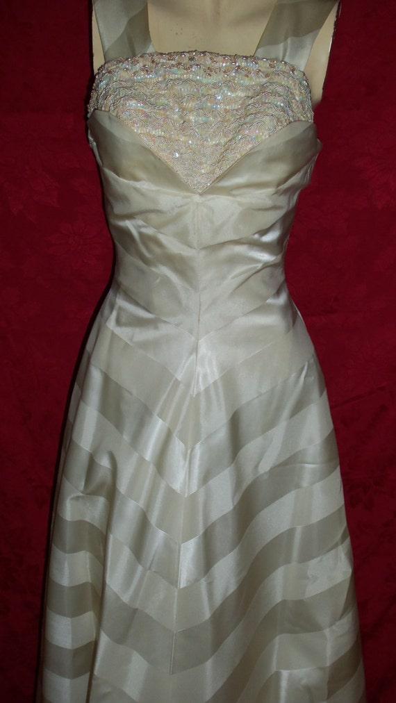 Vintage 50s Formal Gown Dress - image 4