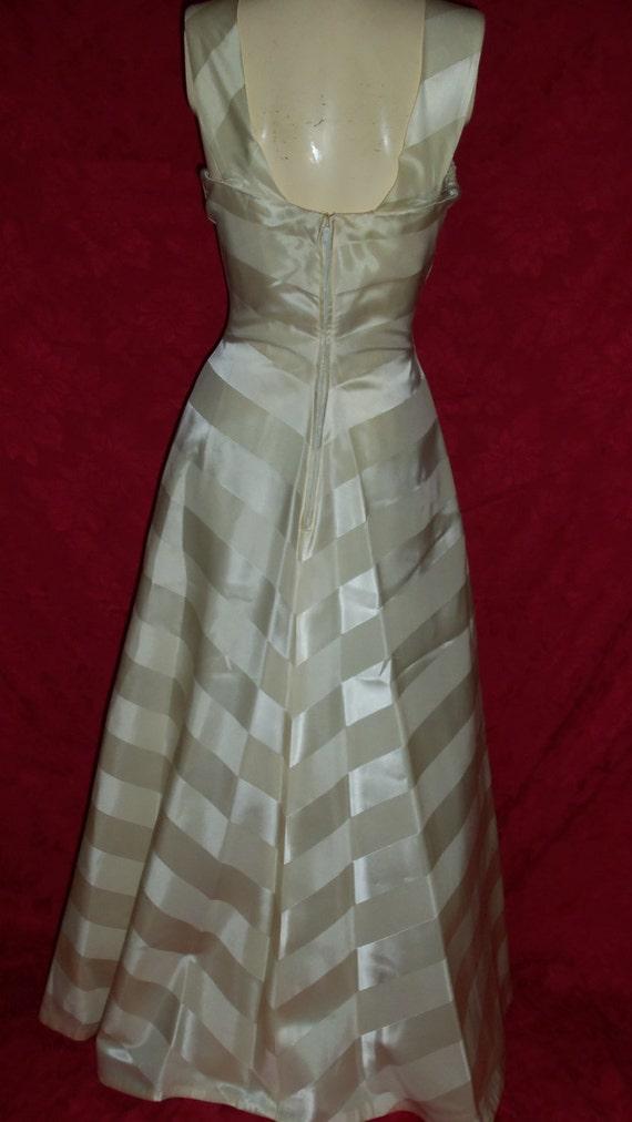 Vintage 50s Formal Gown Dress - image 5