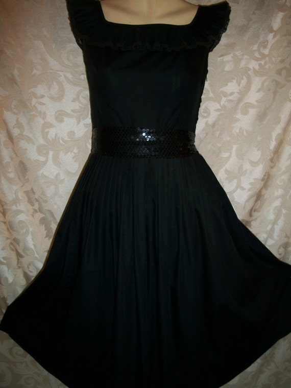 Vintage 1950s Black Dress By Betty Barclay