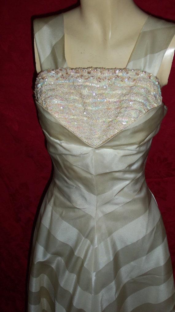 Vintage 50s Formal Gown Dress - image 2