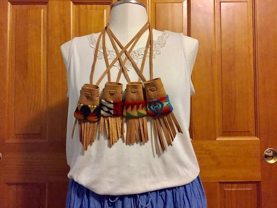 Fringed Medicine Bag Gift Set / Amulet Bag Gift Set
