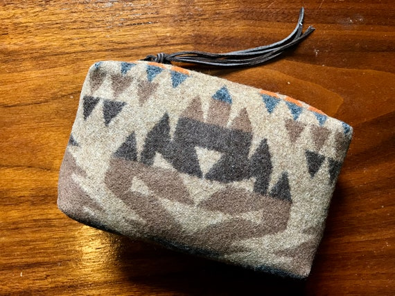 Cosmetic Bag / Makeup Bag / Zippered Pouch Medium Earthy Browns