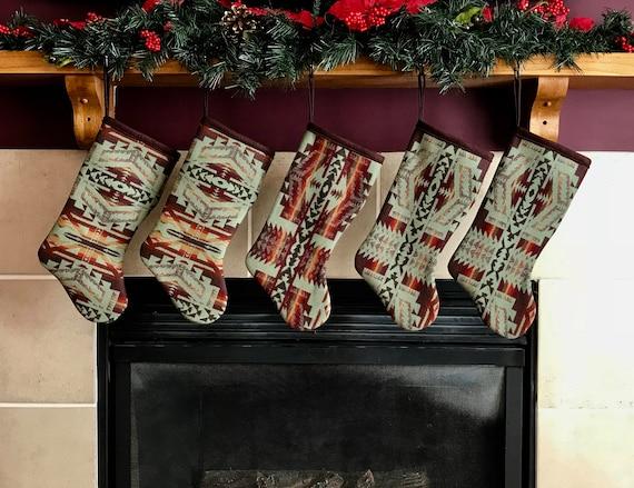 Christmas Stocking XL Shonto Sage Green Collection