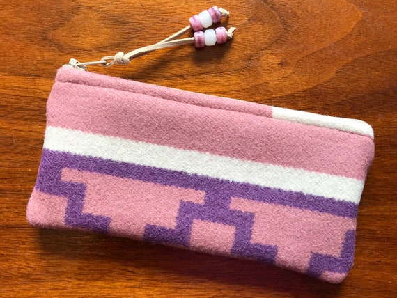 Wool Glasses  Case / Tampon Case / Zippered Pouch Pink Occhino