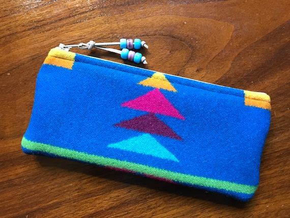 Wool Sunglasses Case / Glasses  Case / Tampon Case / Zippered Pouch San Gabriel