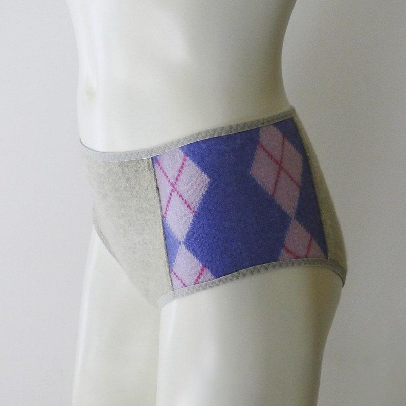 Argyle cashmere underwear brief image 0