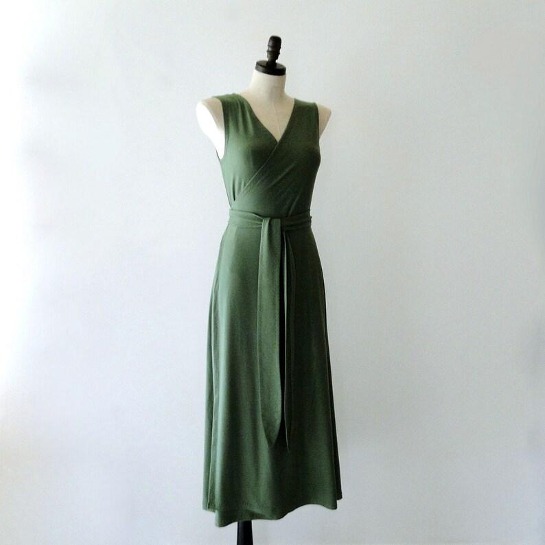 Long wrap dress maxi dress bamboo dress organic cotton image 0