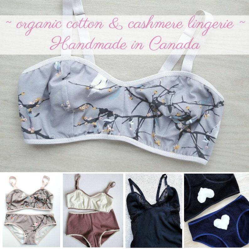 Bralette Panties Set In Merino Wool Knit Made To Order Lingerie Longline Bra And Underwear Wool