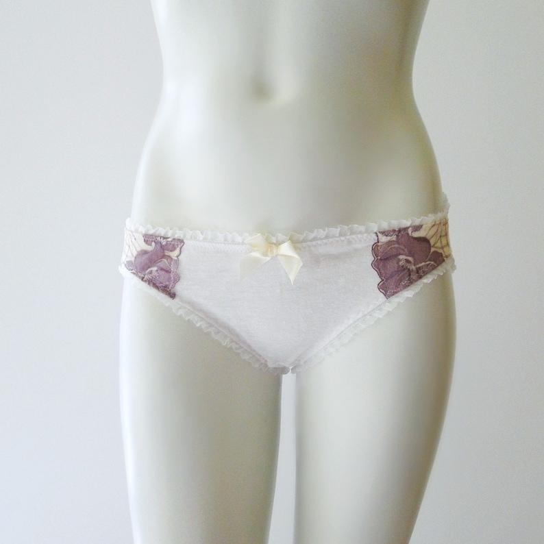 Linen bikini panties linen underwear natural linen lingerie image 0