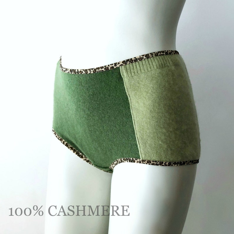 High cut cashmere panties handmade lingerie image 0