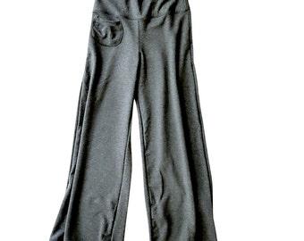 wide leg womens  pants, organic cotton lounge pants, more colors.