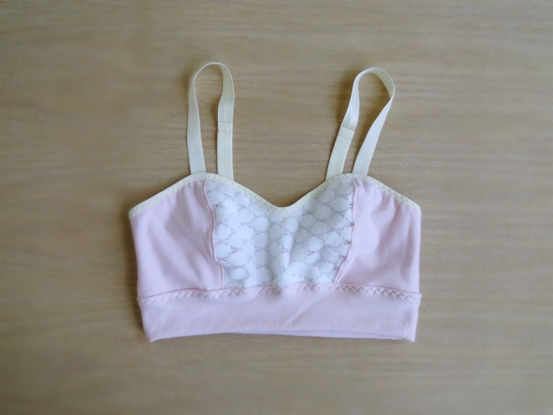 1d11dedf6a1006 Longline bralette top organic cotton lingerie made to