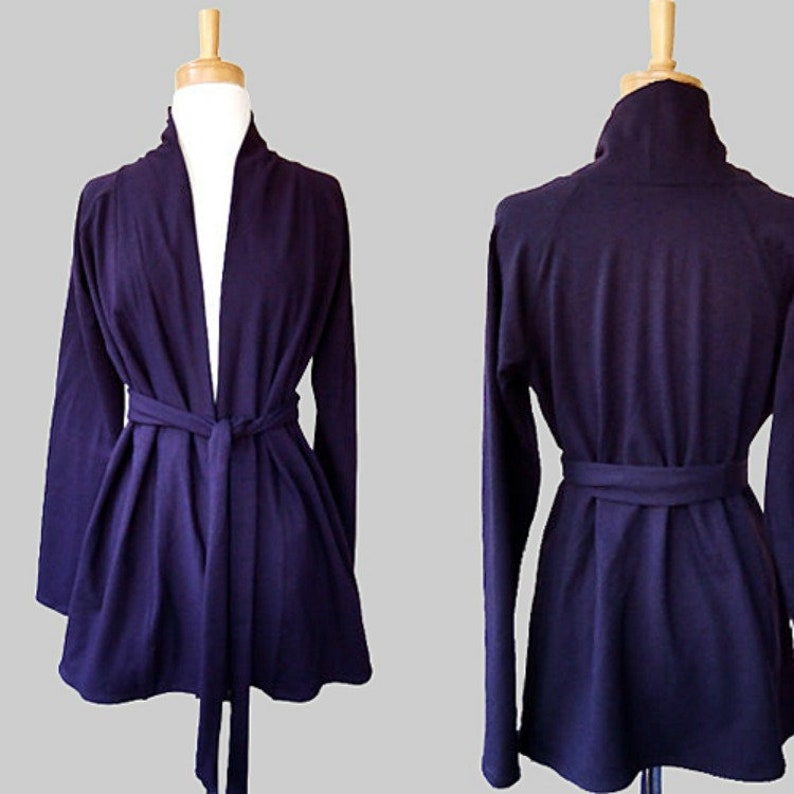 Long cardigan wool cardigan cover up organic cotton bamboo image 0