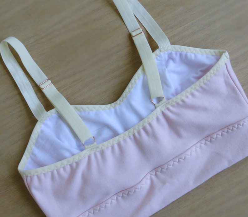 made to order organic cotton lingerie longline bralette top