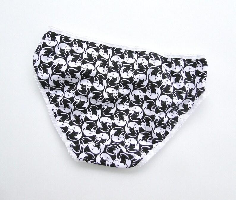 7aecbf2ccaa0 Cotton bikini panties with yin yang cat print made to order | Etsy