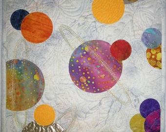 Interplanetary Space 1 art quilt