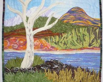 Australian desert art quilt