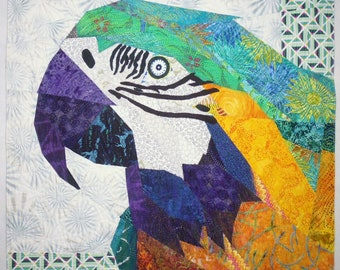 Macaw! Macaw! art quilt