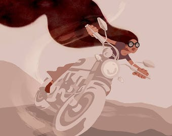 Motorcycle Chic Unframed Glicee Print
