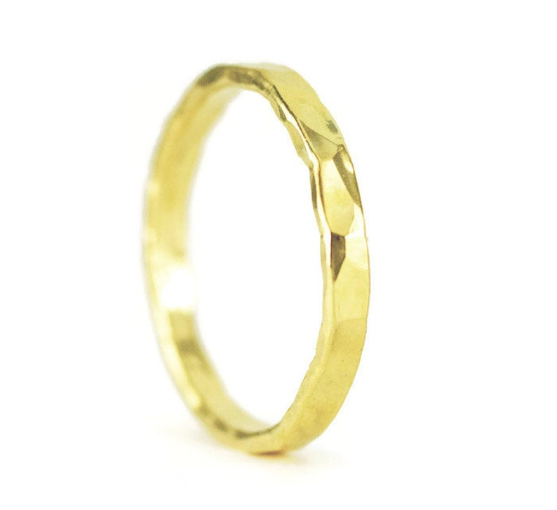 22k Gold Wedding Ring  22k Wedding Band  2.5mm x 1.3mm image 0