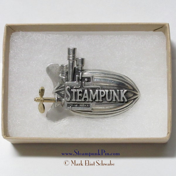 Steampunk pin the word Steampunk front & center  image 2